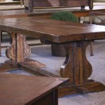sold12 French farmhouse table oak trestle