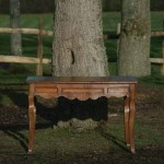 sold18 19c fruitwood console with cabriole leg