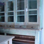 sold22 painted glazed cupboard
