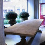 sold23 scrubbed oak trestle table