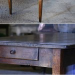 sold57 19c French oak farmhouse table