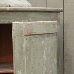 sold69 18c French painted corner cupboard