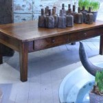 sold74 fruitwood coffee table