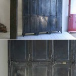 sold75 20c French polished steel locker with six doors