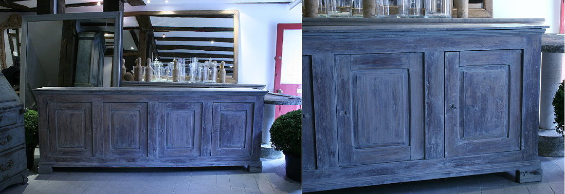 French painted four door buffet - lantiques
